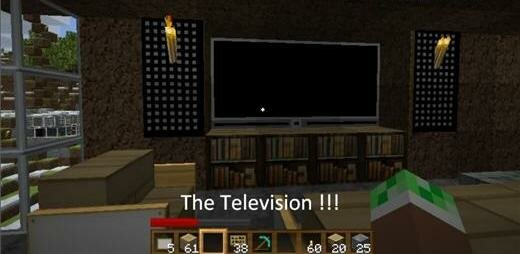 Как сделать в майнкрафте телевизор?
