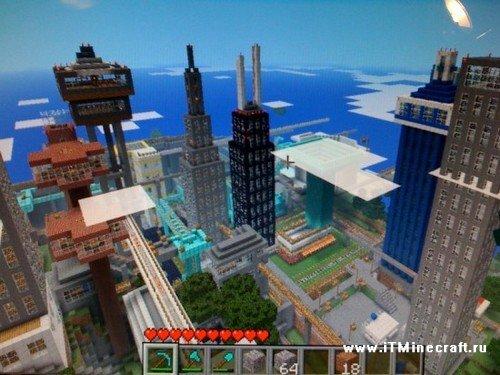 карту на майнкрафт заброшенный город